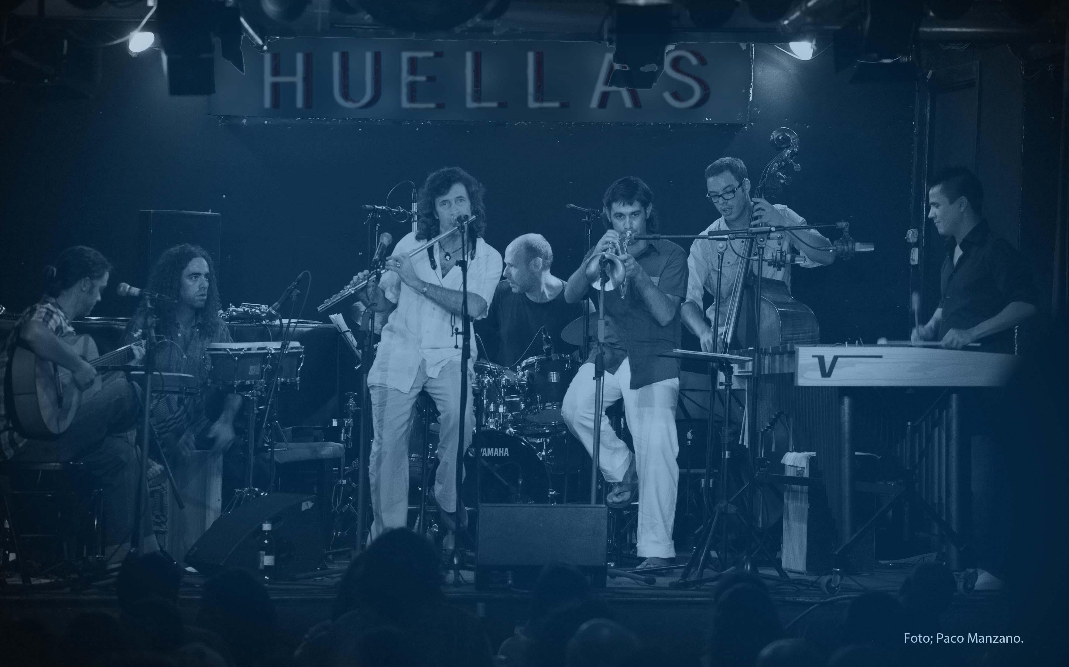 Jorge Pardo, flauta, saxo, flamenco, jazz, musica en vivo, España, guitarra flamenca, Paco de Lucia, Camaron, flamenco jam, groove, musica electronica, metaflamenco, Huellas, Huellas XXL, nuevo CD, Josemi Carmona, Bandolero, Jeff Ballard, exoflamenco, Diego Guerrero, Enriquito